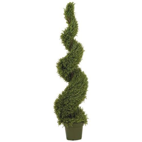 Nearly Natural 5171 Rosemary Spiral Silk Tree, 5-Feet, Green