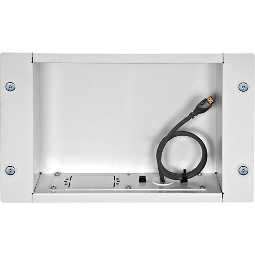 Peerless - Recessed Cable Management and Power Storage Accessory Box - White