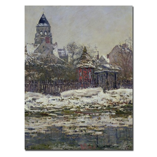 Trademark Fine Art 18 in. x 24 in. The Church at Vetheuil 1879 Canvas Art