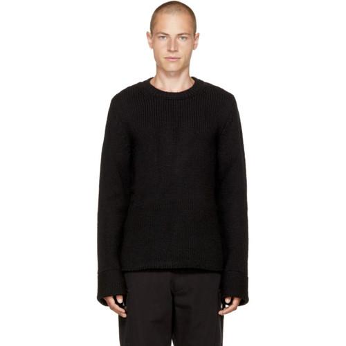 MAISON MARGIELA Black Zip Cuff Sweater