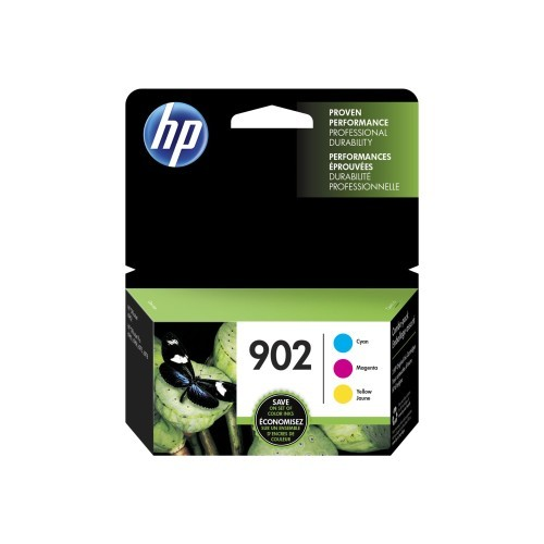 HP Inc. 902 - 3-pack - yellow, cyan, magenta - original - blister - ink cartridge - for Officejet 6954, 6962; Officejet Pro 6974, 6975, 6979 (T0A38AN#140)
