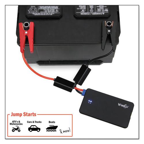 Weego Standard Jump Starter Battery+ 12V Li-Poly 300 Peak Amp 6000 mAh