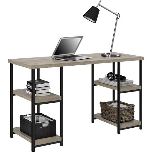 Dorel Elmwood Sonoma Oak Double Pedestal Desk
