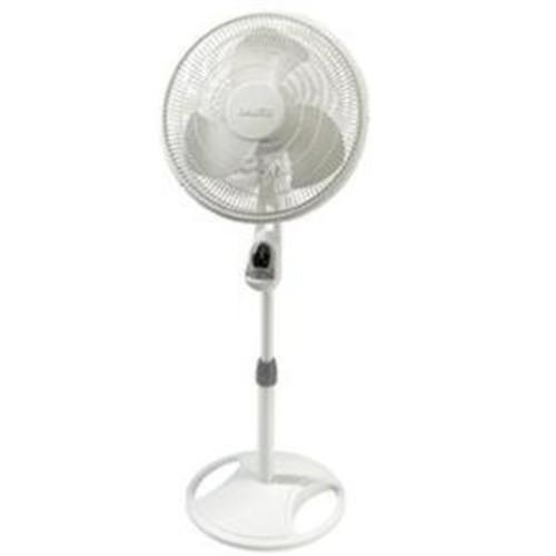 Lasko 1646 16 In. Remote Control Stand Fan, White [1-Pack]
