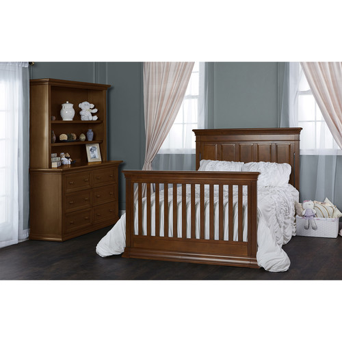 Evolur Convertible Crib Wooden Full-Size Bed Rail - Java