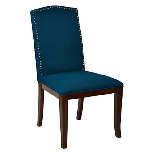 Ave Six Hanson Dining Chair, Klein Azure/Espresso