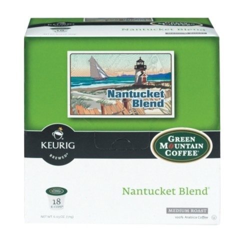 Keurig Green Mountain Coffee Nantucket Blend Medium Roast Coffee K-Cups 18 pk (120239)