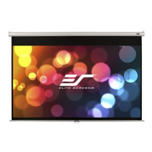 Elite Screens Manual Series M113NWS1 - Projection screen - 113 in ( 287 cm ) - 1:1 - MaxWhite - white