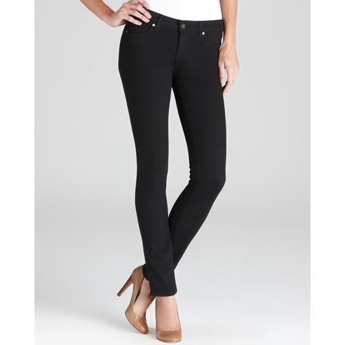 Transcend Verdugo Ultra Skinny Jeans in Black Shadow