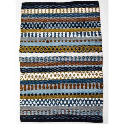 CLM Barcelona Blue/Brown Area Rug