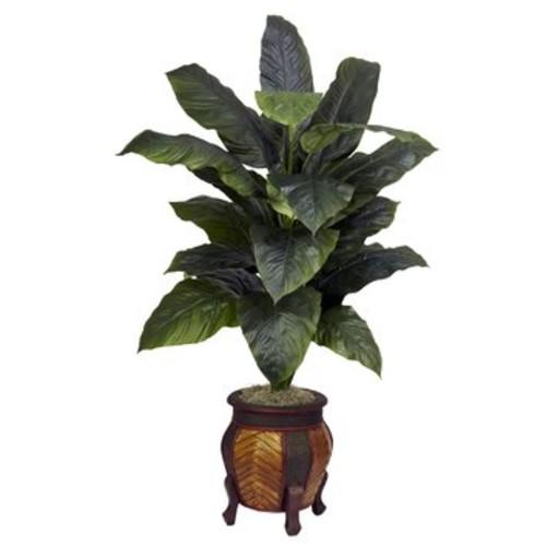 Giant Spathyfillum Floor Plant in Decorative Vase