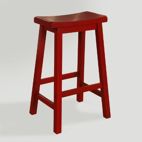 Red Schoolhouse Barstool
