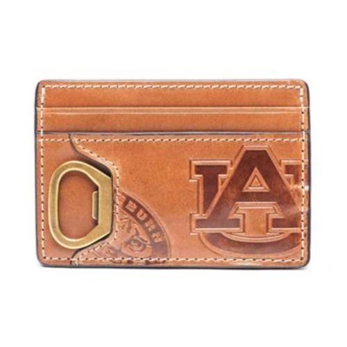 Jack Mason Auburn University Sideline Leather ID Card Case in Brown