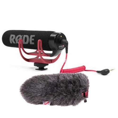 Rode VideoMic GO Lightweight On-Camera Microphone W/Rycote Mini Windjammer VIDEOMIC GO A