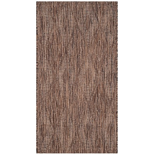 Safavieh Courtyard 2-Foot x 3-Foot 7-Inch Indoor/Outdoor Area Rug in Brown
