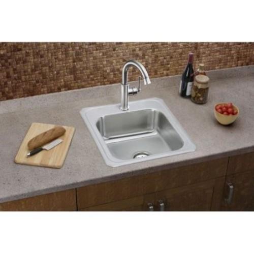 Elkay Celebrity Drop-In Stainless Steel 17 in. 3-Hole Single Bowl Kitchen Sink