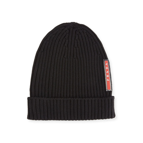 PRADA Ribbed Knit Wool Beanie