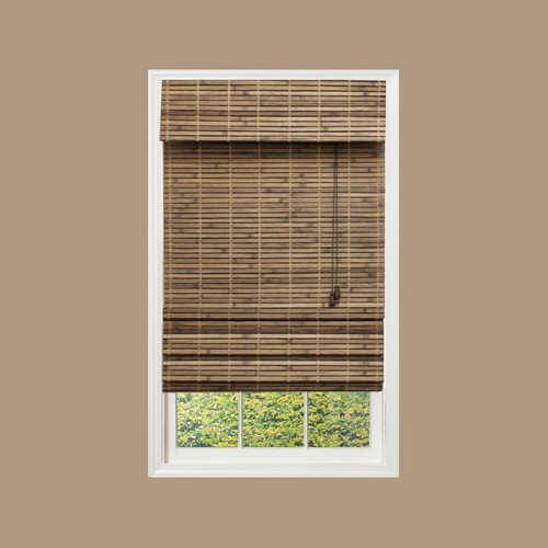 Home Decorators Collection Driftwood Flatweave Bamboo Roman Shade - 67.5 in. W x 48 in. L