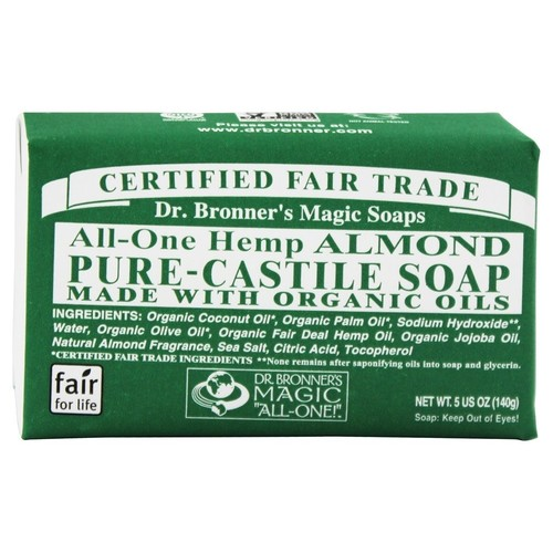 Dr. Bronners - Magic Pure-Castile Bar Soap Organic Almond - 5 oz.