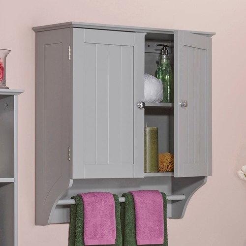 RiverRidge Ashland Gray Two Door Wall Cabinet