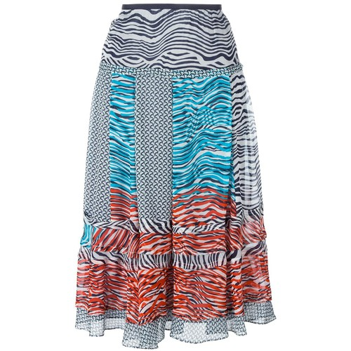 DIANE VON FURSTENBERG 'New Wave' Pattern Skirt