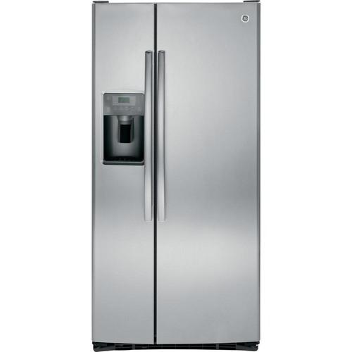 GE 32.75 in. W 23.2 cu. ft. Side by Side Refrigerator in Stainless Steel