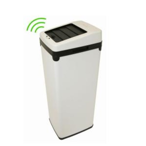 iTouchless 14 Gal. White Motion Sensing Touchless Trash Can