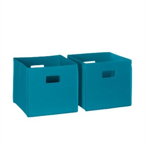 RiverRidge Kids 2 Piece Folding Storage Bin Set - Pink