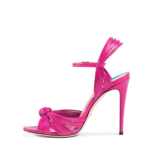 GUCCI Allie Strappy Knotted Leather Sandal
