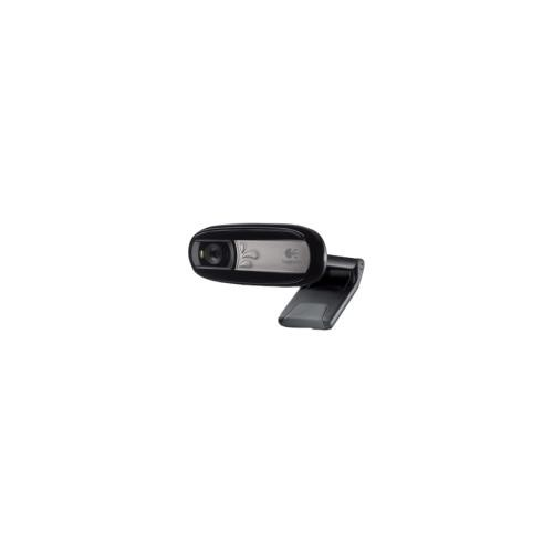 Logitech C170 Webcam - 0.3 Megapixel - 30 fps - USB 2.0 - 5 Megapixel Interpolated - 1024 x 768 Video - Fixed Focus - Widescreen - Microphone