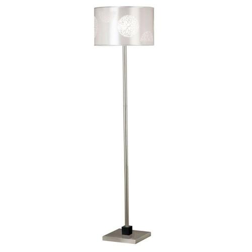 Kenroy Home Cordova 58 in. Brushed Steel Floor Lamp
