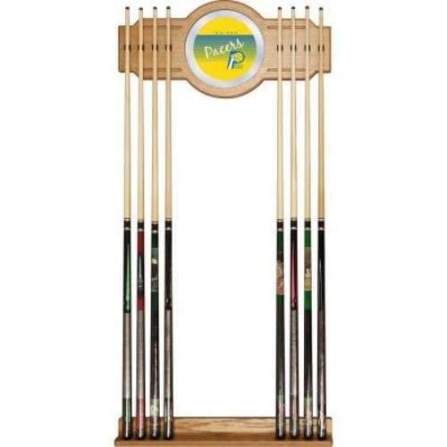 Trademark Indiana Pacers NBA Hardwood Classics 30 in. Wooden Billiard Cue Rack with Mirror