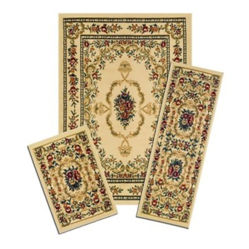 Achim Importing Co Capri 3 Piece Savonnerie Beige Area Rug Set