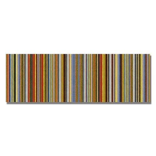 Trademark Fine Art Comfortable Stripes VII by Michelle Calkins, 14x32-Inch Canvas Wall Art