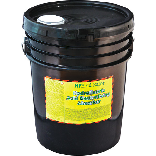 HF Acid Eater Hydrofluoric Acid Neutralizing Absorber  30-Lbs., 5-Gal. Pail,