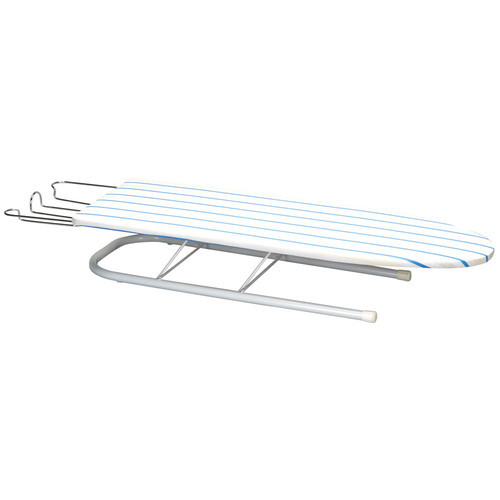 Household Essentials Deluxe Pressboard Tabletop Ironing Board with Iron Rest, April Stripe