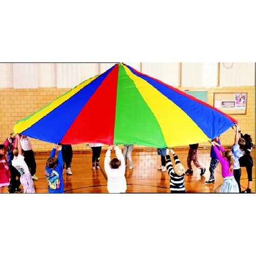 Dick Martin Sports Parachute with 16 Handles, 19' Diameter Grade Kindergarten to 1, 2.5