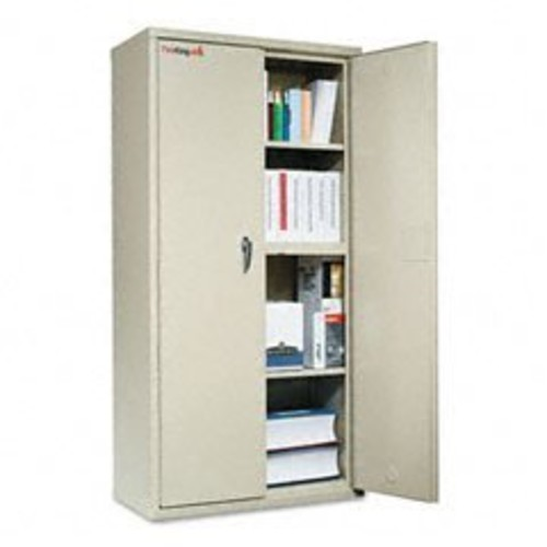 FireKing CF7236D Storage Cabinet, 36w x 19-1/4d x 72h, UL Listed 350, Parchment