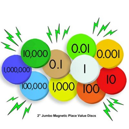 Essential Learning Products 10-Value Jumbo Magnetic Place Value Demonstration Discs, 2