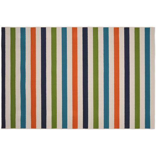 Garland Rug Summer Stripe Multi 5 ft. x 7 ft. 5 in. Area Rug