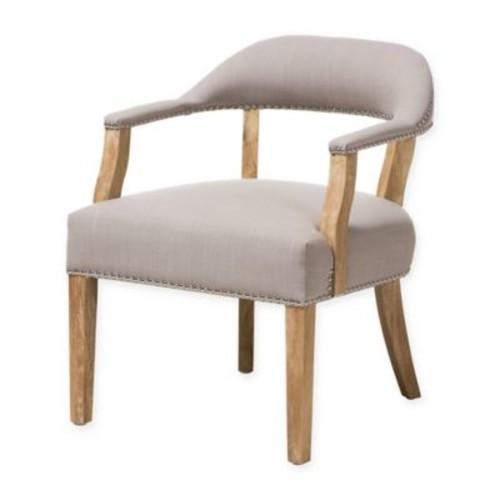 Baxton Studio Macee Accent Chair in Beige