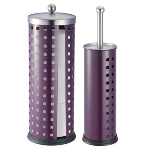 Hopeful Enterprise 2 Piece Free Standing Toilet Brush Set; Purple