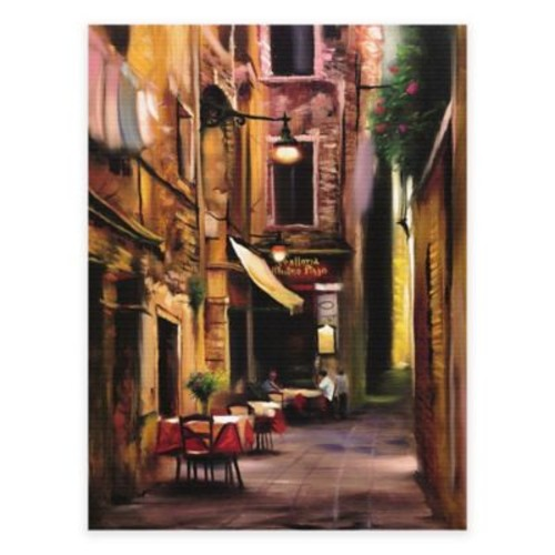 Evening Caf All-Weather Outdoor Canvas Wall Art