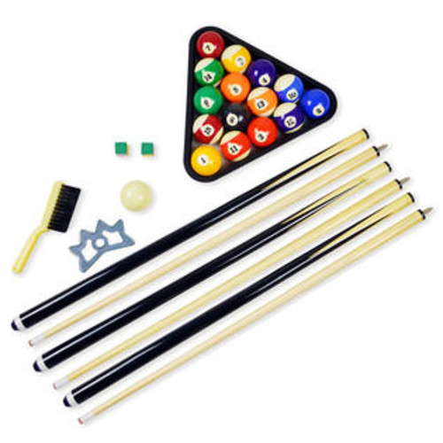 Hathaway Pool Table Billiards Accessory Kit Complete with Triangle Rack 16 Billiards Balls and 2 Cue Sticks