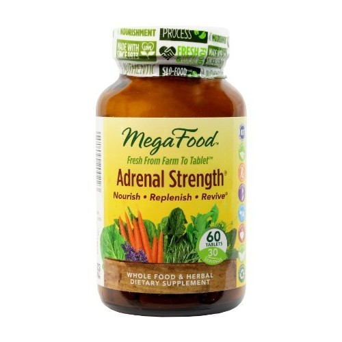 MegaFood - Adrenal Strength, Support for Energy, Focus, Alertness, Fatigue and Stress Management with Ashwagandha and Reishi Mushrooms, Vegetarian, Gluten-Free, Non-GMO, 60 Tablets (FFP): Health & Personal Care