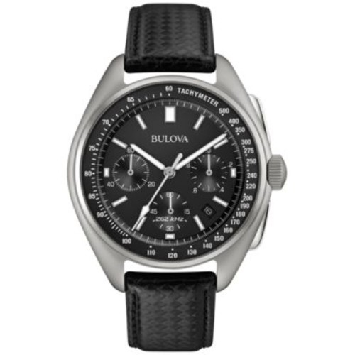 Bulova Men's Special Edition Lunar Pilot Chronograph Black Leather Strap & Nylon Strap Watch 45mm 96B251