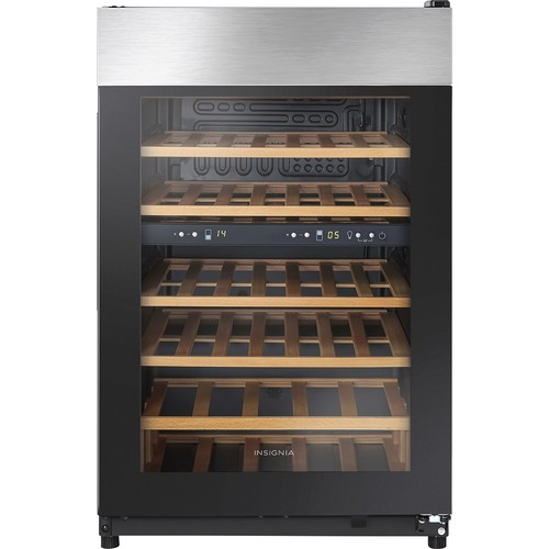 Insignia - 45-Bottle Wine Cooler - Black