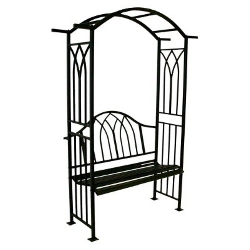 Royal Arbor With Bench - Black
