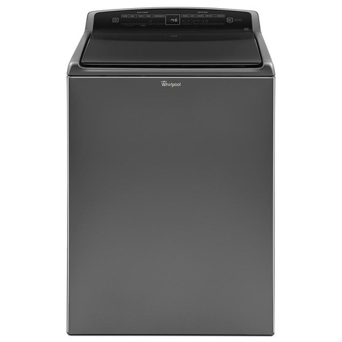 Whirlpool 4.8 cu. ft. High-Efficiency Top Load Washer with Built-In Water Faucet in Chrome Shadow, Intuitive Touch Controls