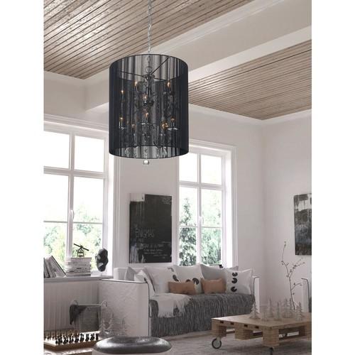 ZUO Whitney 10-Light Black Ceiling Lamp